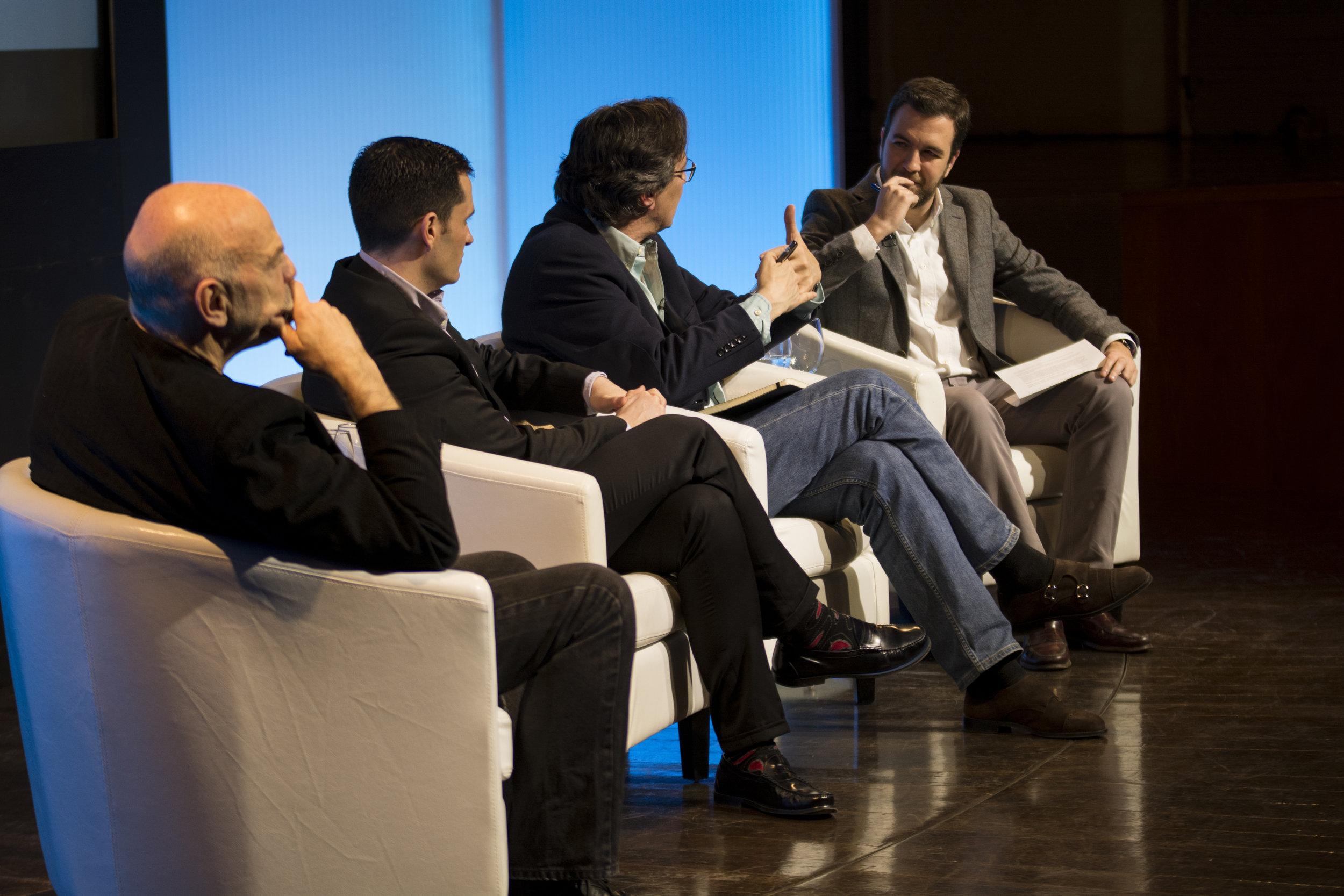 Debate David Alandete, Israel Doncel, Ignacio Vallespín and Martín Caparrós in Casa de America, 2017.