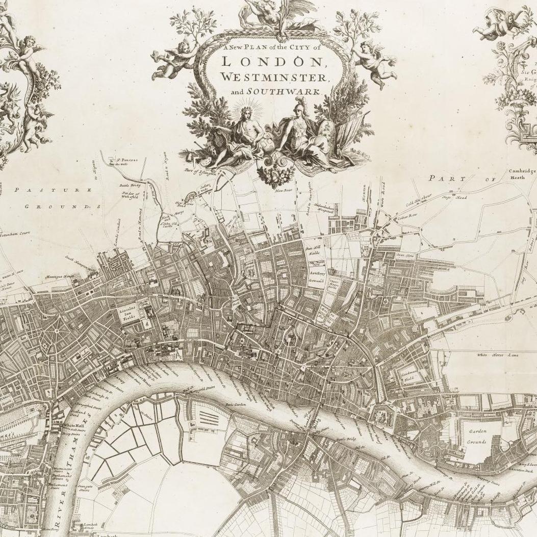John Strype map of London 1720
