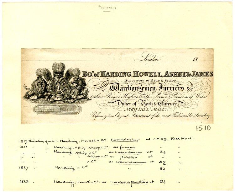 Harding & Howell letterhead