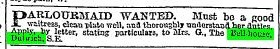 Mrs Gowan placed an advert in the Times