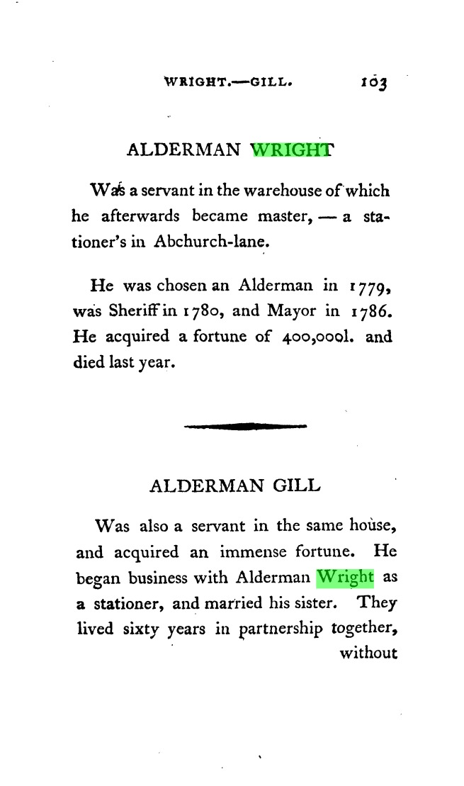 Wright & Gill in a contemporary biography book