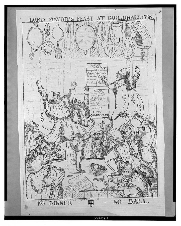 No dinner no ball: response to the ban on the Lord Mayor's Show. Source: Library of Congress