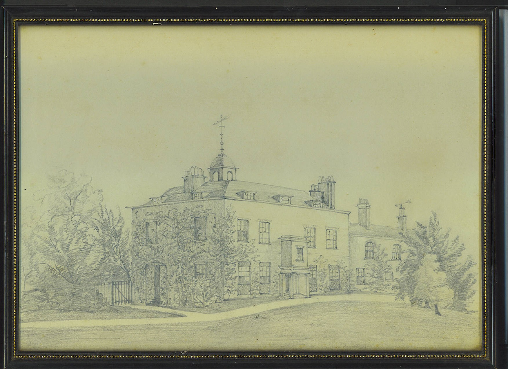 Sketch of Bell House made by one of Anthony Harding's family