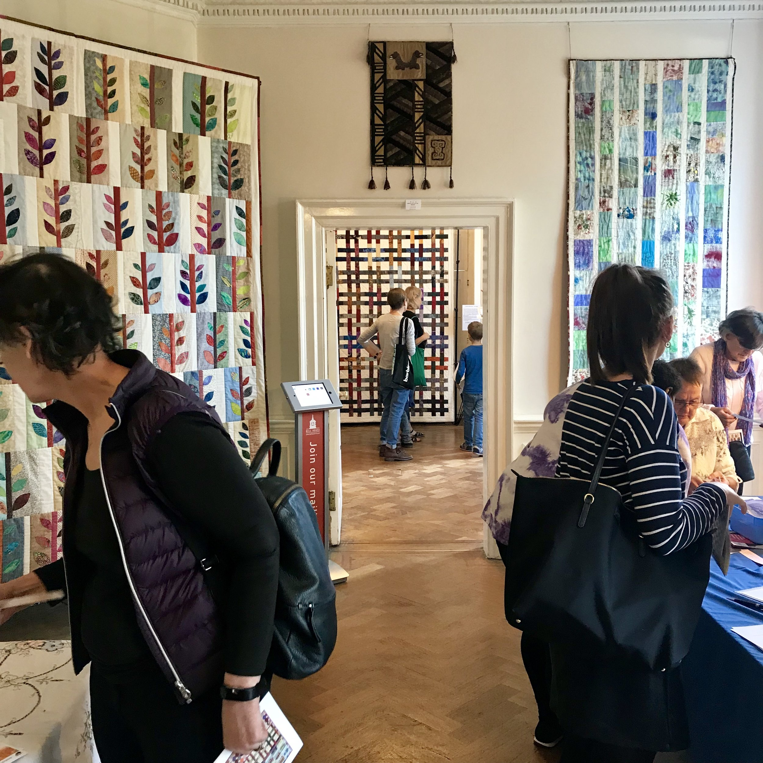 Quilting exhibition at Bell House