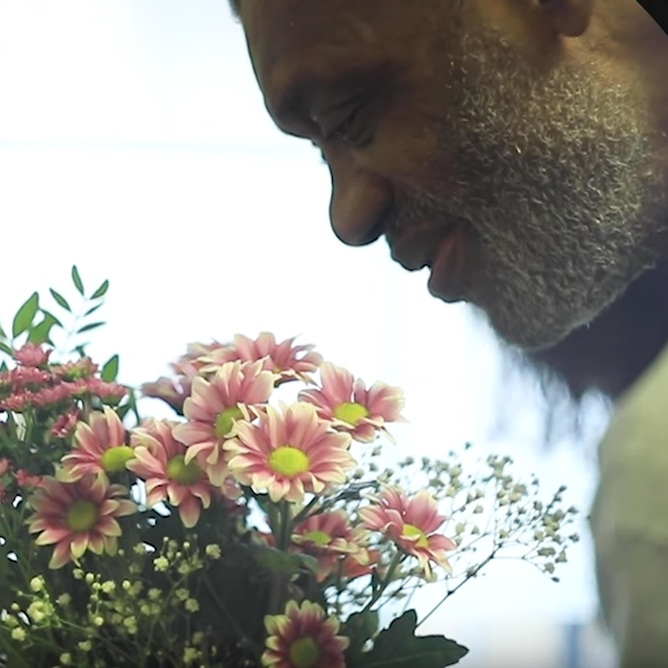 Lynford Thompson - in a still from the recent Bell House film,  Independence and Dementia