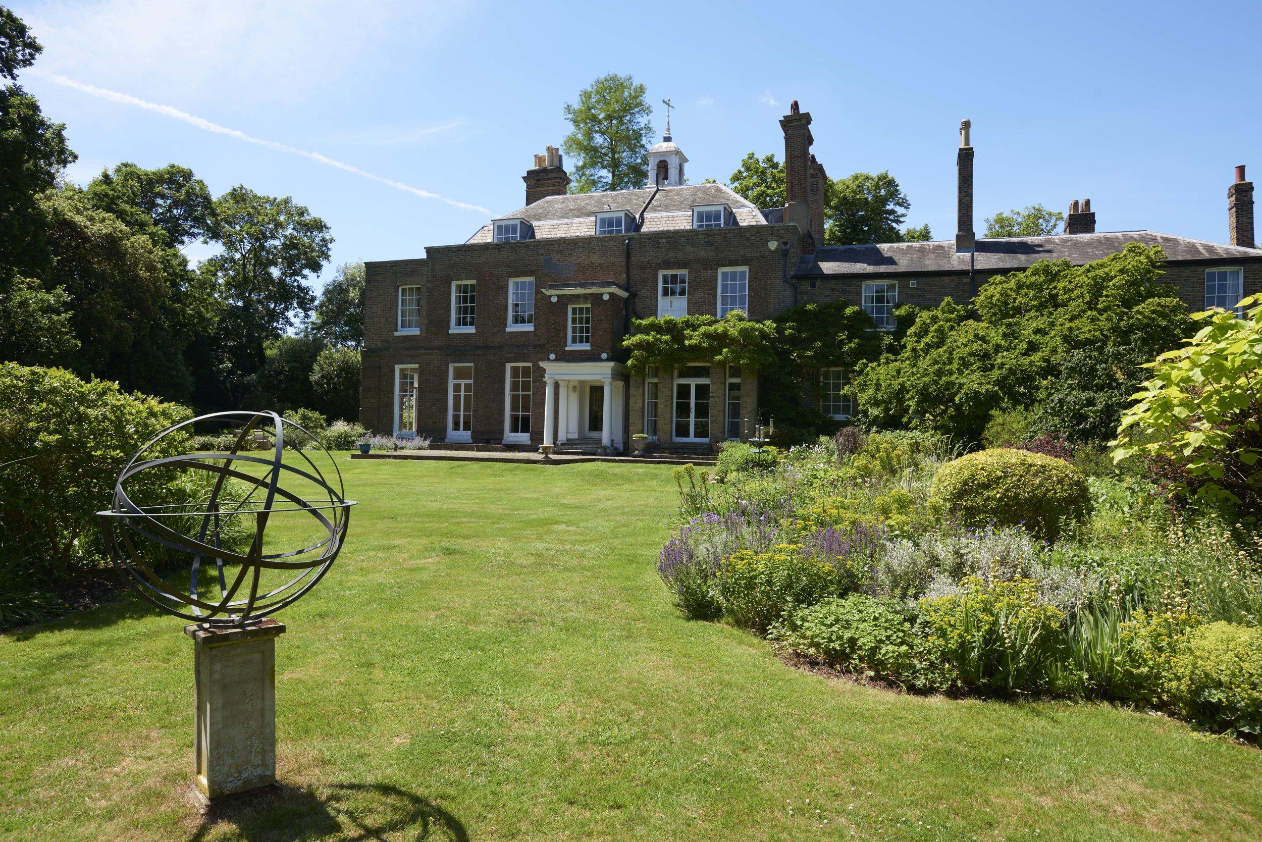 Bell House garden in summer sunshine