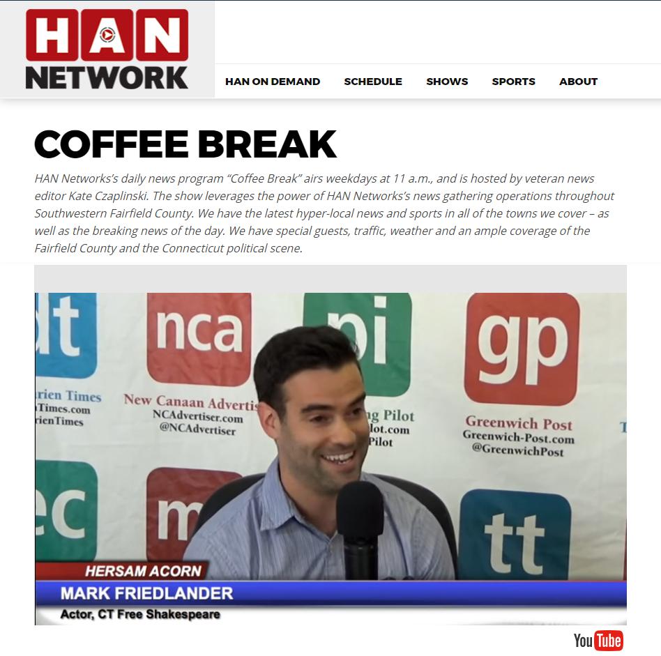 Mark Friedlander HAN Coffee Break