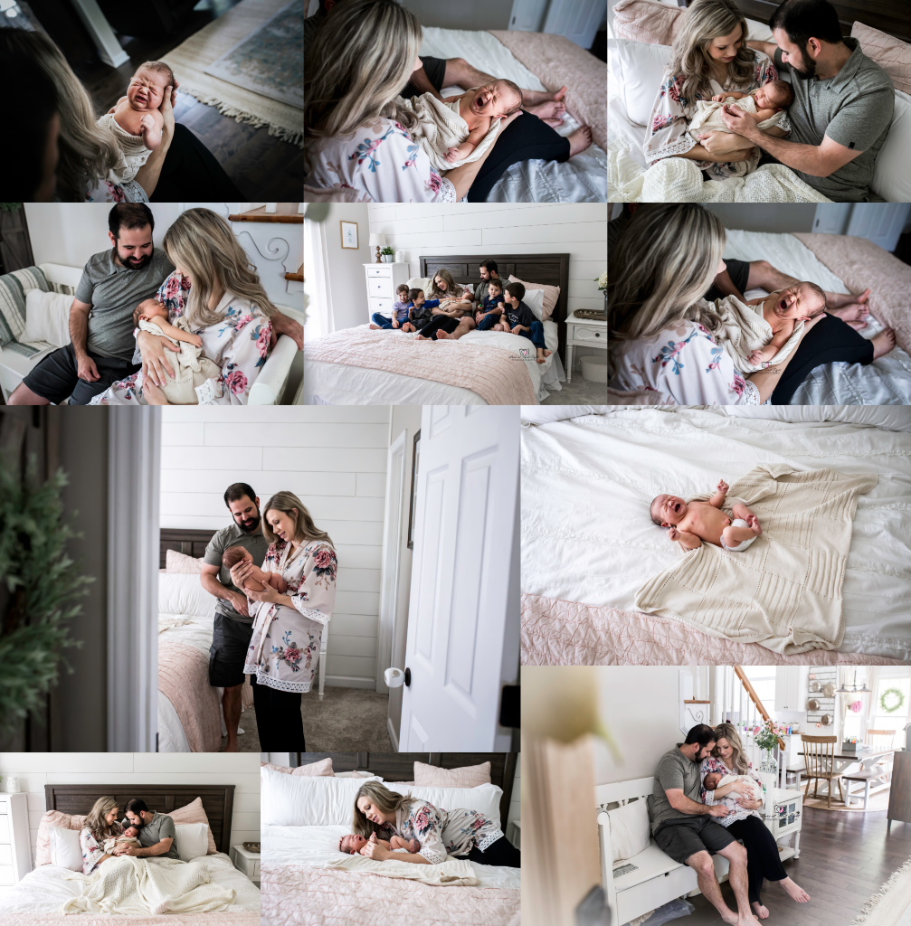 beautiful in home newborn lifestyle photography by love at first sight photography & doula services