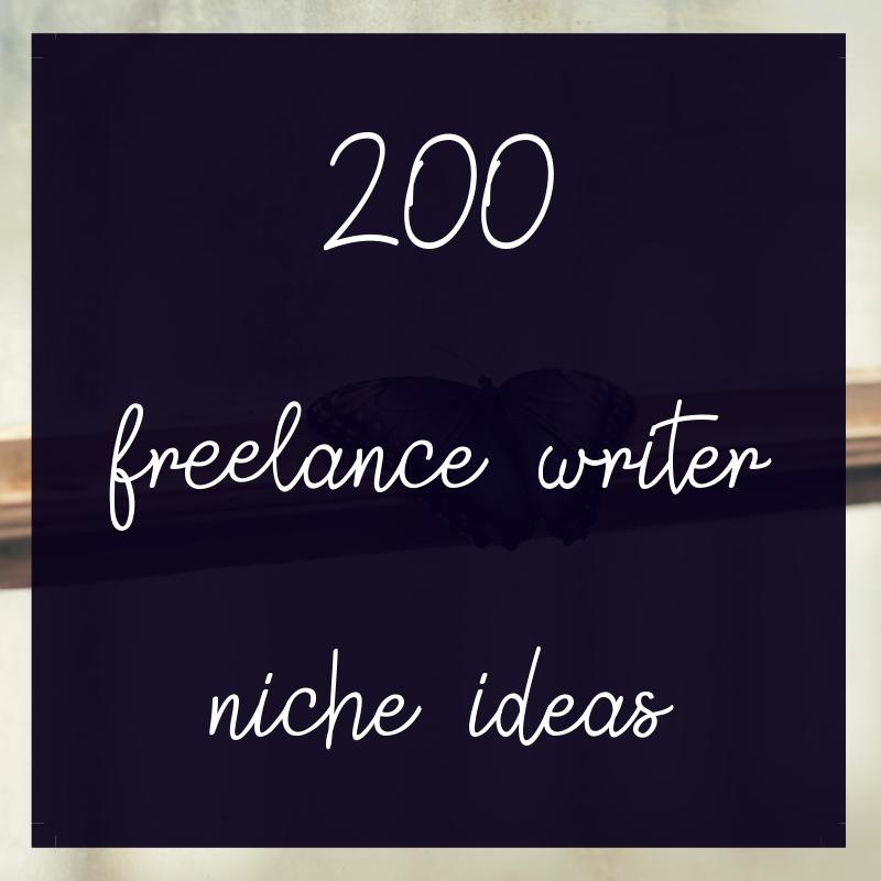 freelance writer niche