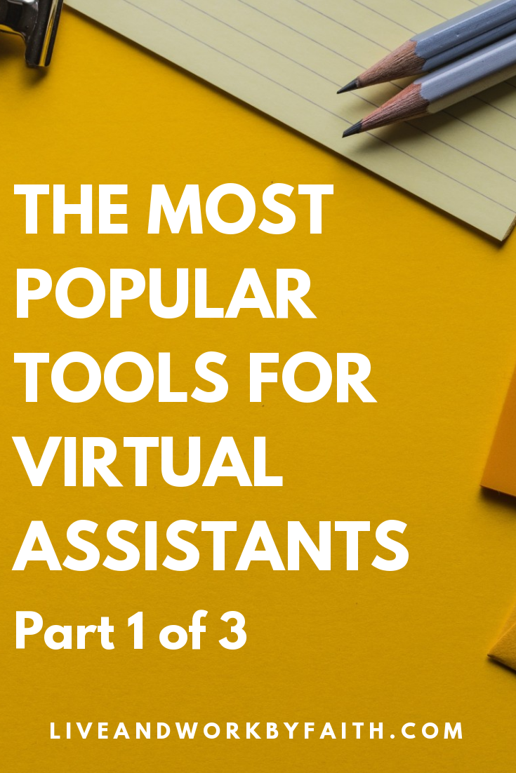 Part 1 of a three-part series on favorite tools of virtual assistants.