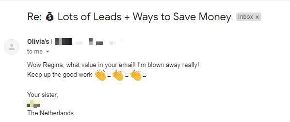 leads testimonial
