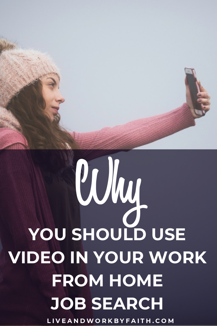 Applying for work from home gigs but not getting anywhere? Give video a try! In this post, I share how to use video to your advantage in your work from home job search. #workfromhome