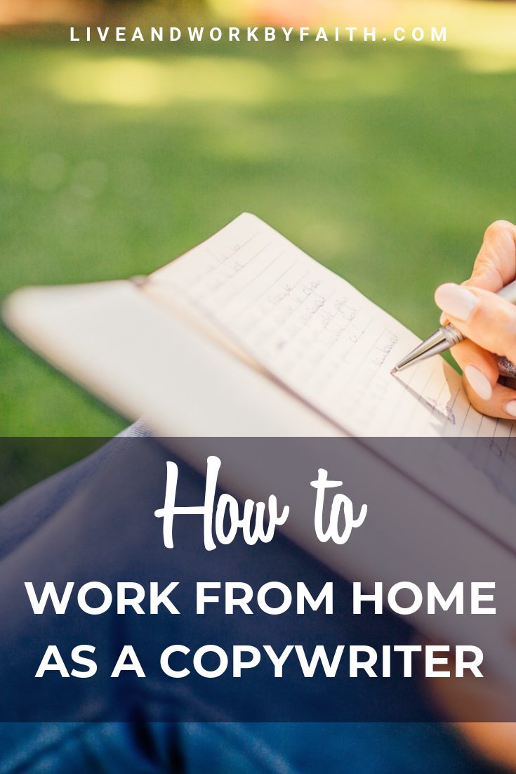 Learn how to work from home as a copywriter. #workfromhome