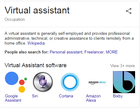 definition of virtual assistant