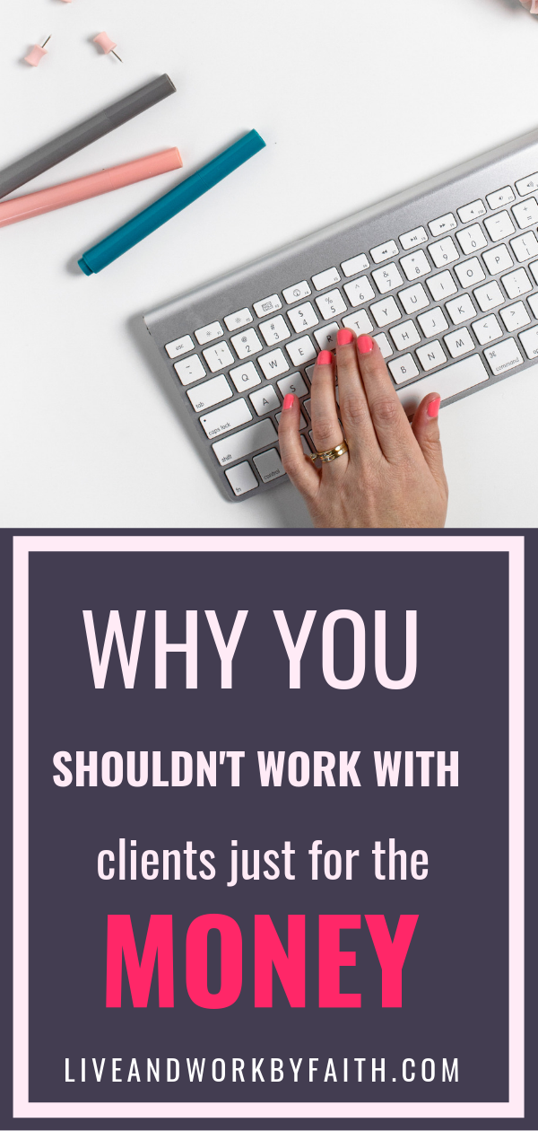 You're a virtual assistant and desperate for client work. Should you take on clients just to pay the bills? Read to learn about my experience of putting $$$ before passion.