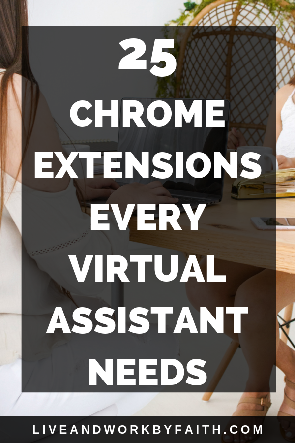 Google Chrome extensions are huge time savers. Check out my list of favorite Google Chrome extensions that keep me organized as a virtual assistant.