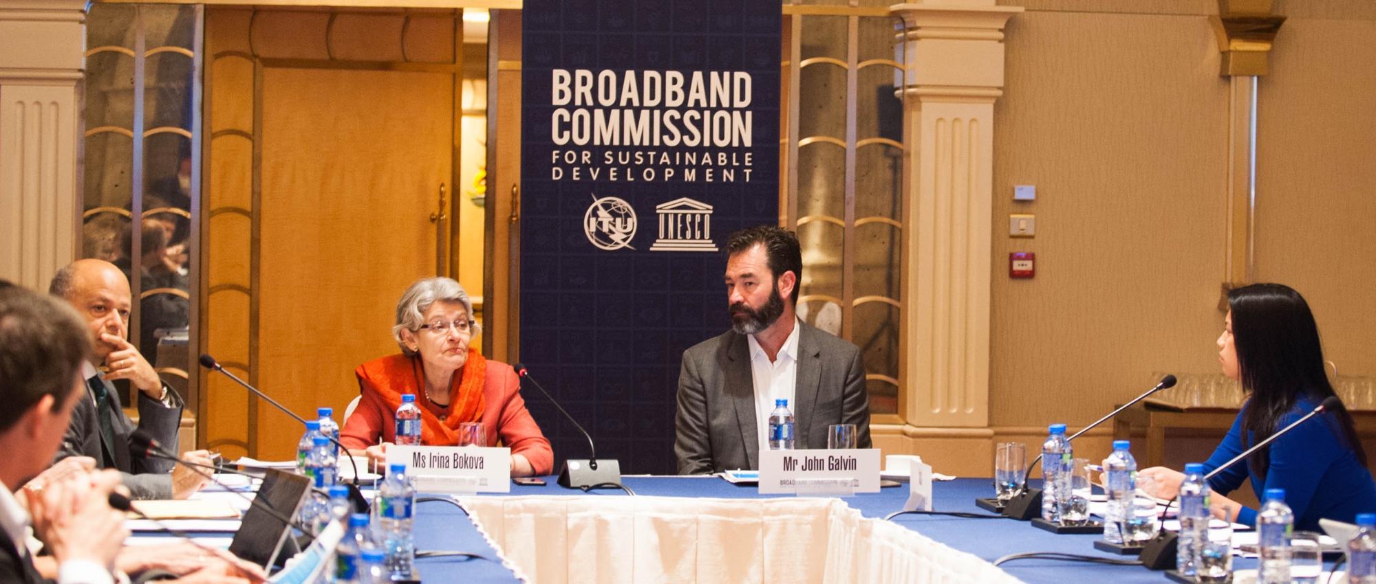 ITU's Broadband Commissioner Meeting with UNESCO's Director General Irina Bokova and Intel VP & GM John Galvin
