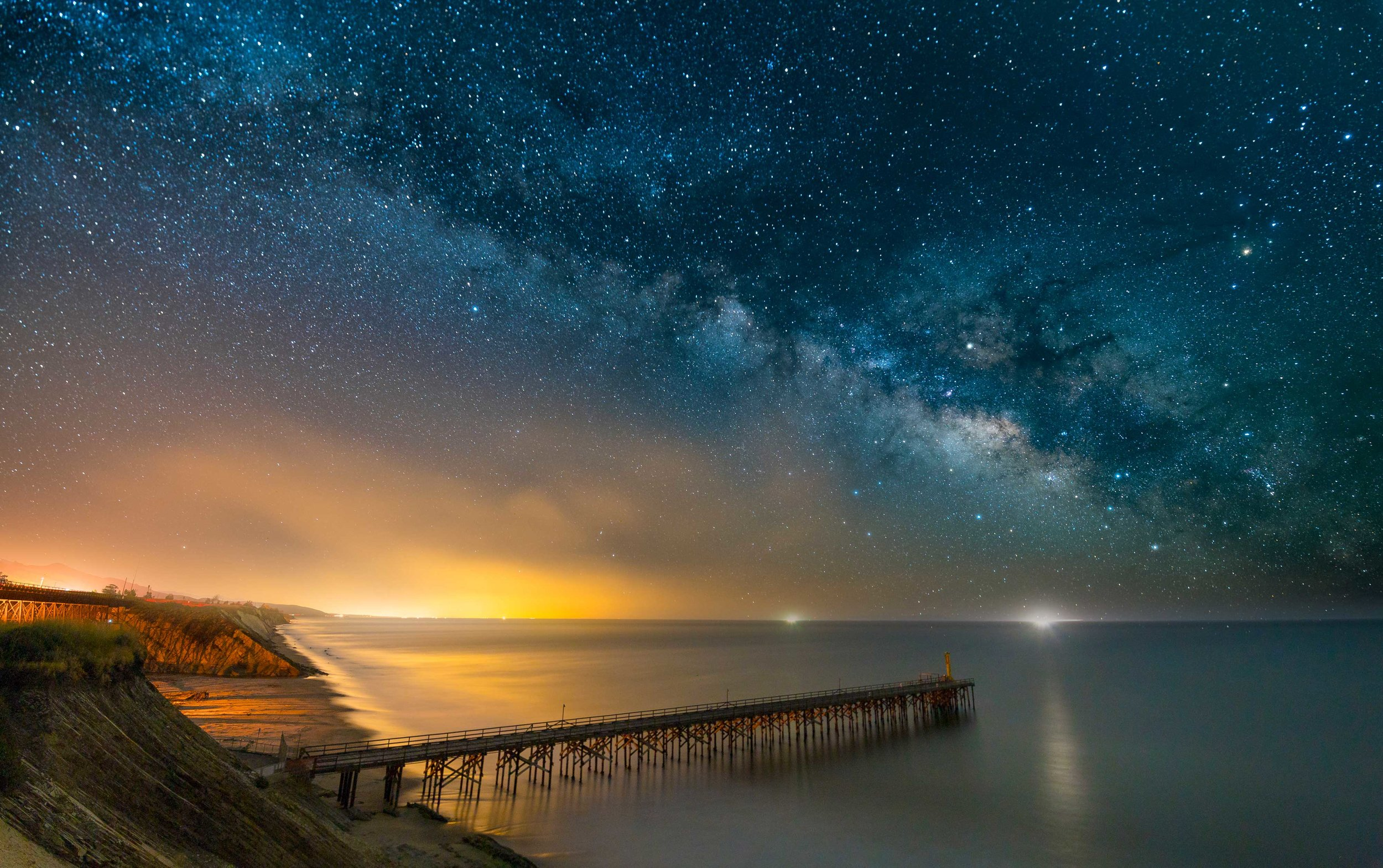 A composite image, using the sky captured with a star tracker, and the foreground captured on a stationary tripod. Editing and compositing done in Adobe Lightroom and Photoshop.