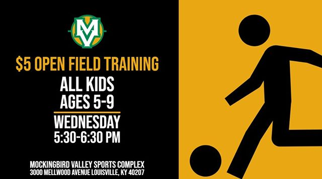 Our open field training sessions start next Wednesday, June 12, and will run all summer long!