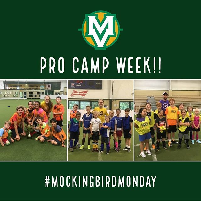"""This week, our campers enter the """"pro combine"""" for the opportunity to get drafted and signed to your dream professional soccer team!! #MockingbirdMonday  To join in on the fun, click the link in our bio!"""