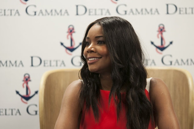 Actress Gabrielle Union during the Delta Gamma Lectureship in Values & Ethics at Louisiana State University Press Conference (LSUNOW photo)