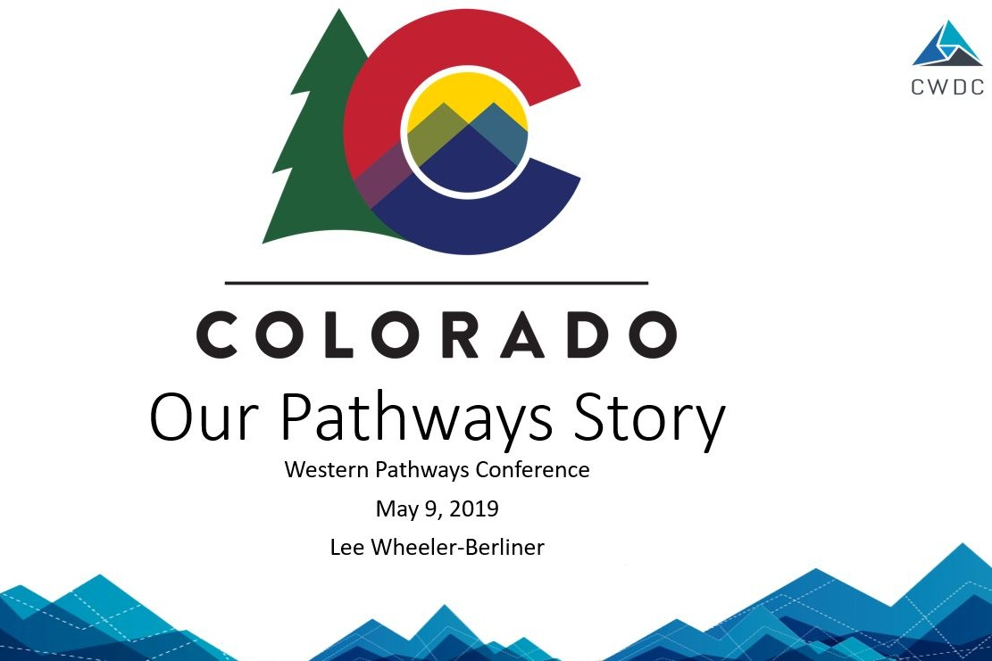 "Click to view Colorado Workforce Development Council's presentation as part of the ""What the Leading Western States are Doing"" panel."