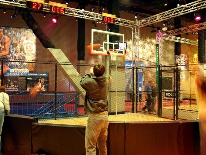 College Basketball Experience - An interactive facility where fans can immerse themselves in the game, from skills challenges to capturing your own call of a historic game at the ESPN-U Broadcast Desk.