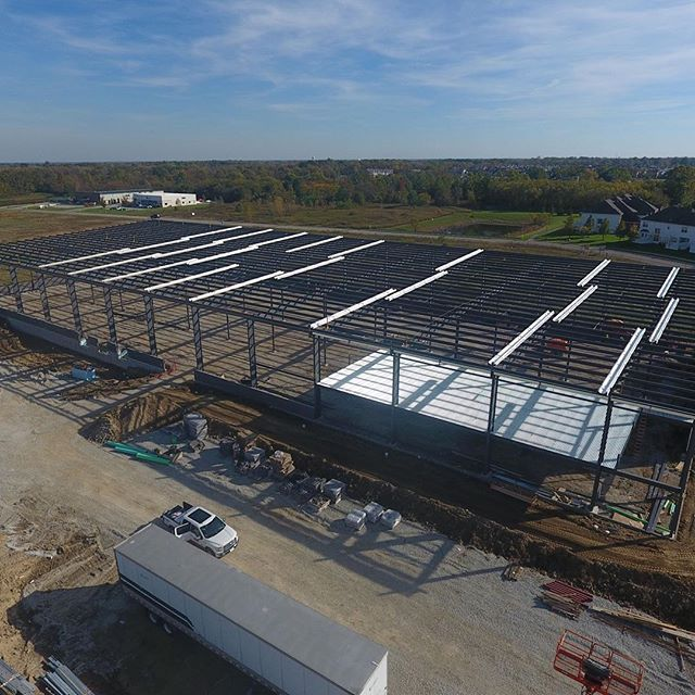 Took the drone out to get some shots of our NewPro project in Westfield, IN. Nothing like seeing the metal go up for a new project!