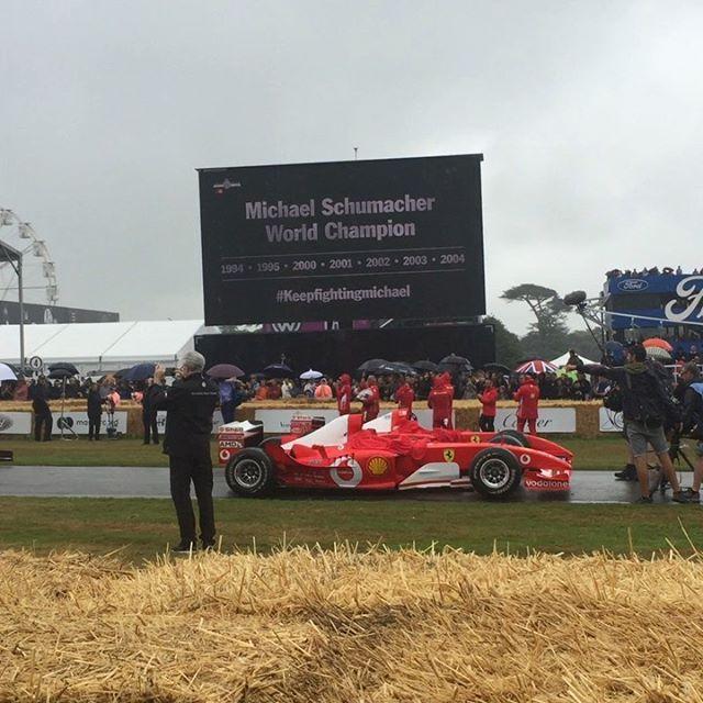 Celebrating Michael Schumacher's incredible career in #f1 @fosgoodwood #formula1 #michaelschumacher #ferrari #southdownswater