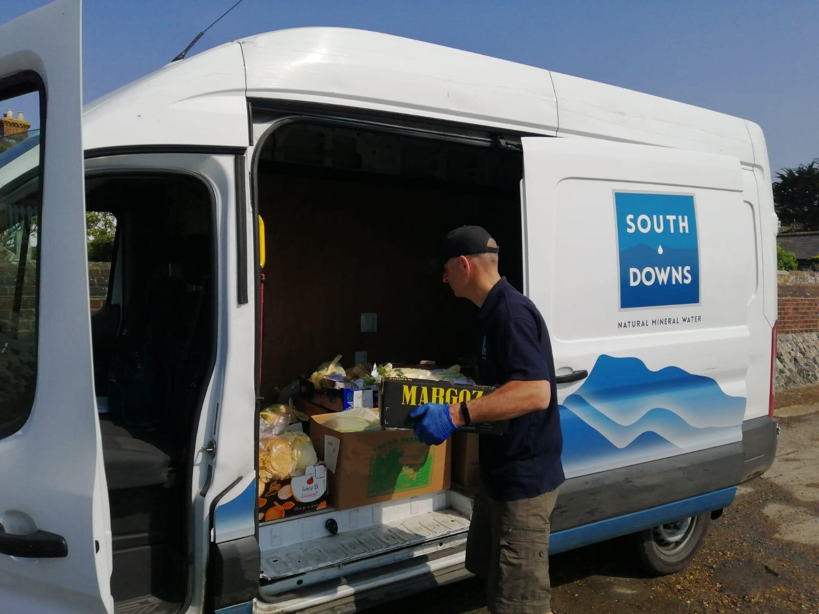 Above: We carried out more than 1200 Southbourne Farm Shop grocery deliveries in our local area between Chichester and Emsworth during the height of lockdown - prioritising NHS staff, over 70s and those needing to shield.