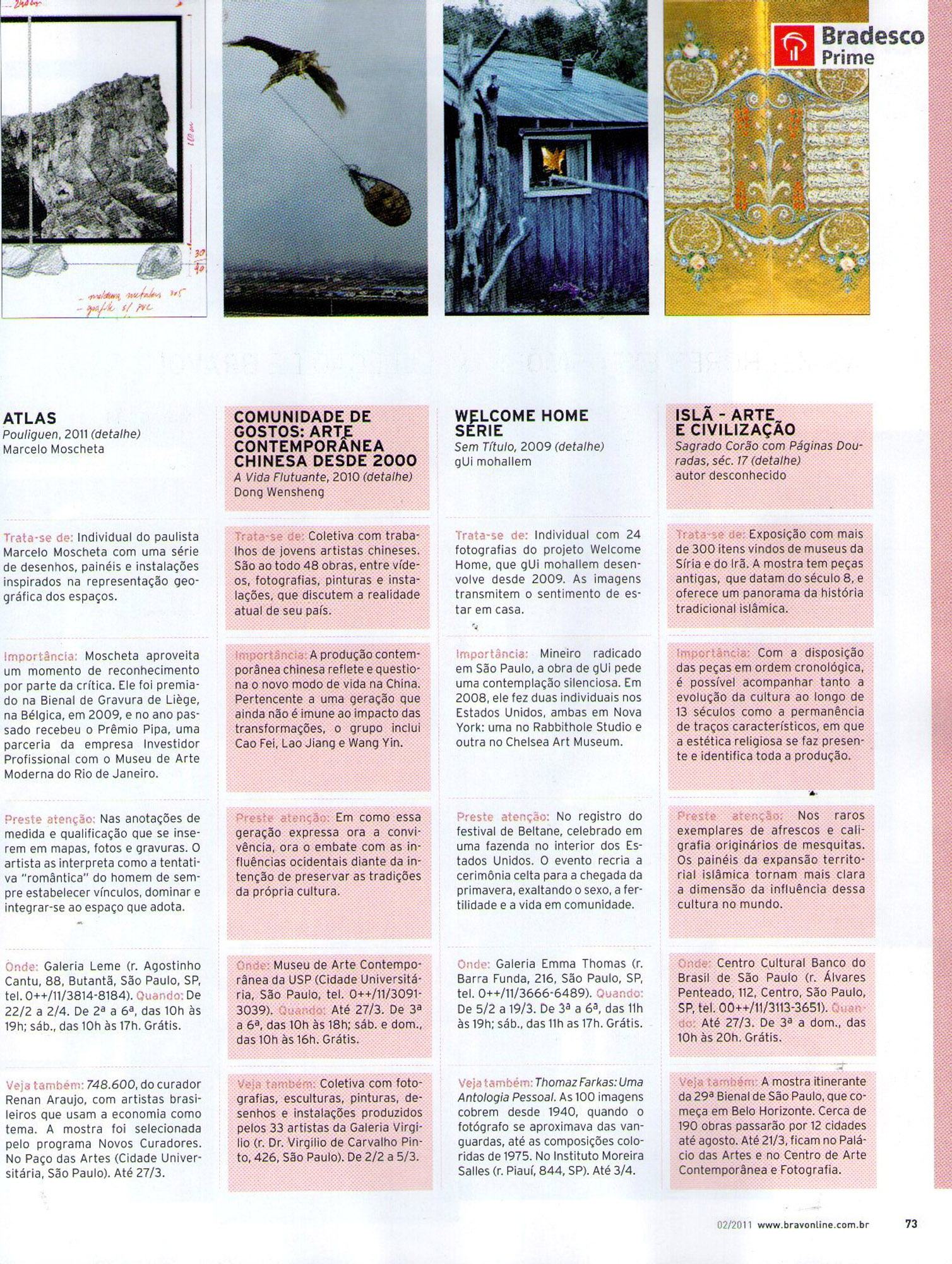 Revista Bravo!   Fevereiro de 2011