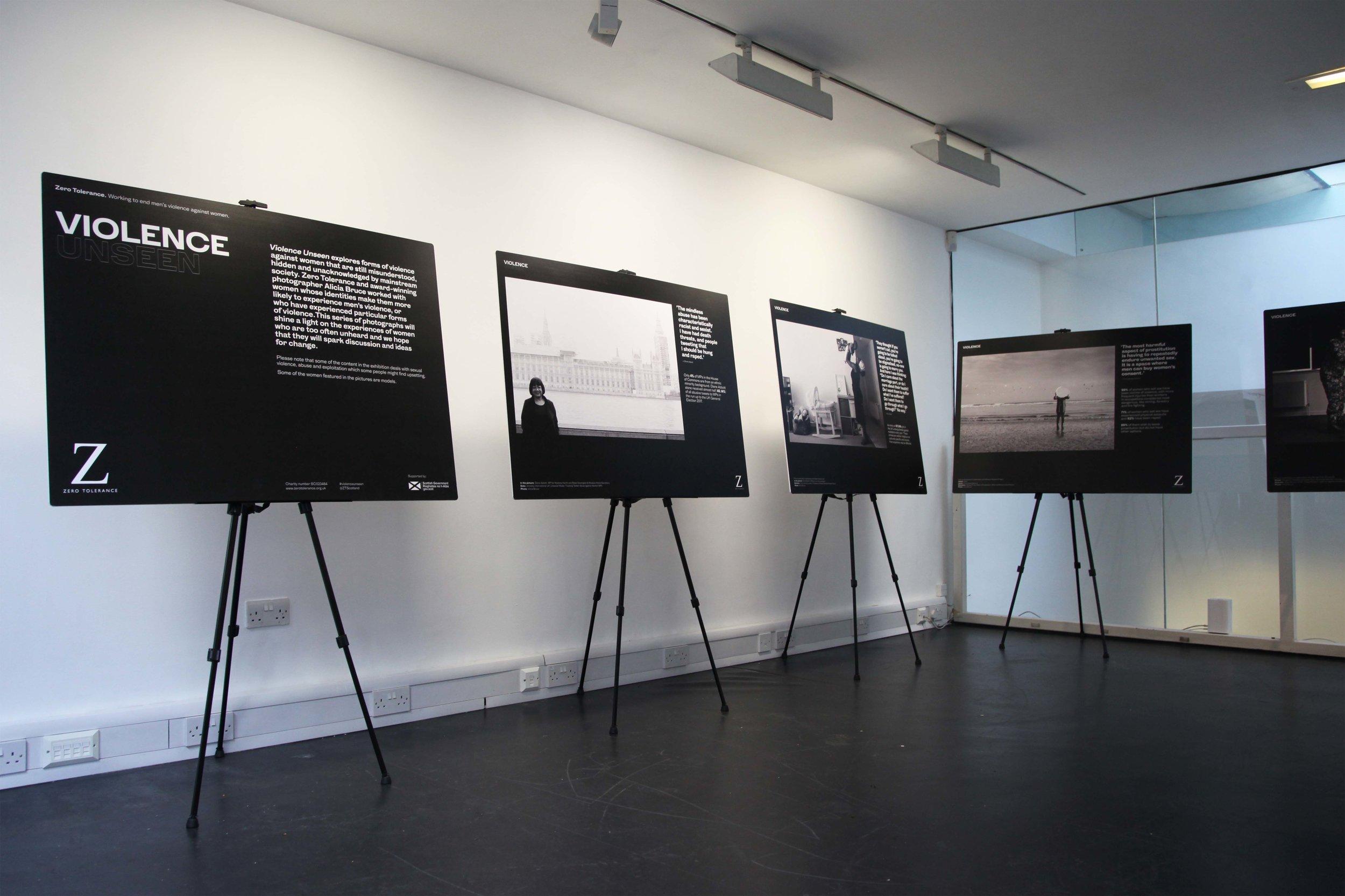 Image: Violence Unseen installation at Stills Edinburgh, Courtesy of Stills