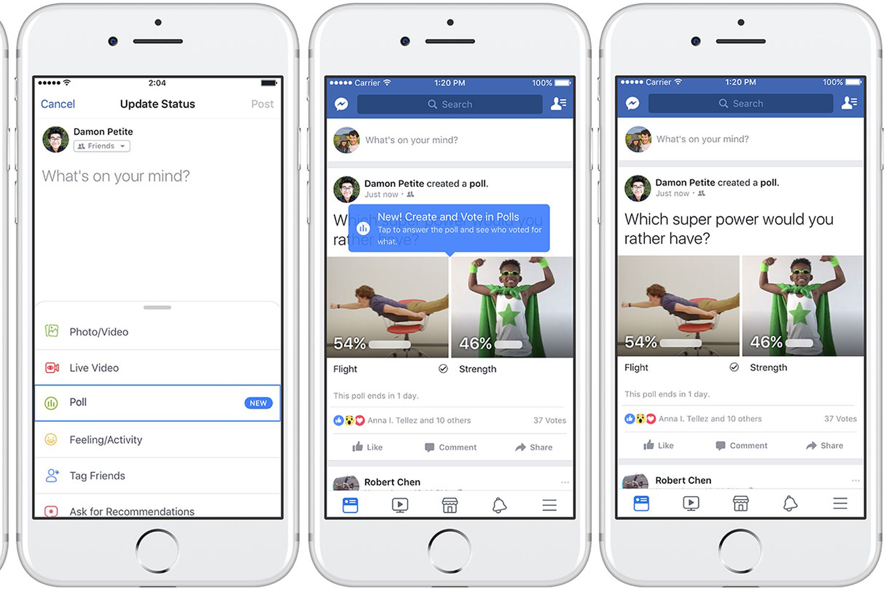 Facebook adds GIF enabled polls