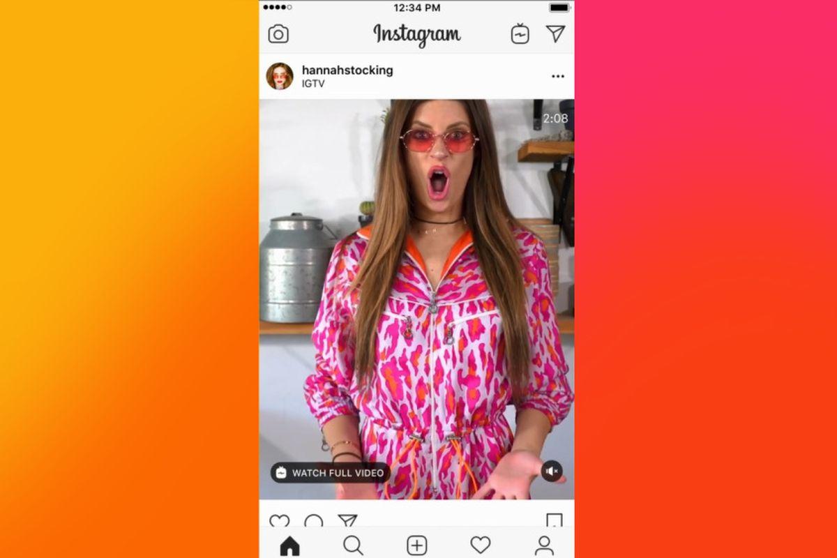 IGTV previews in Instagram Feed