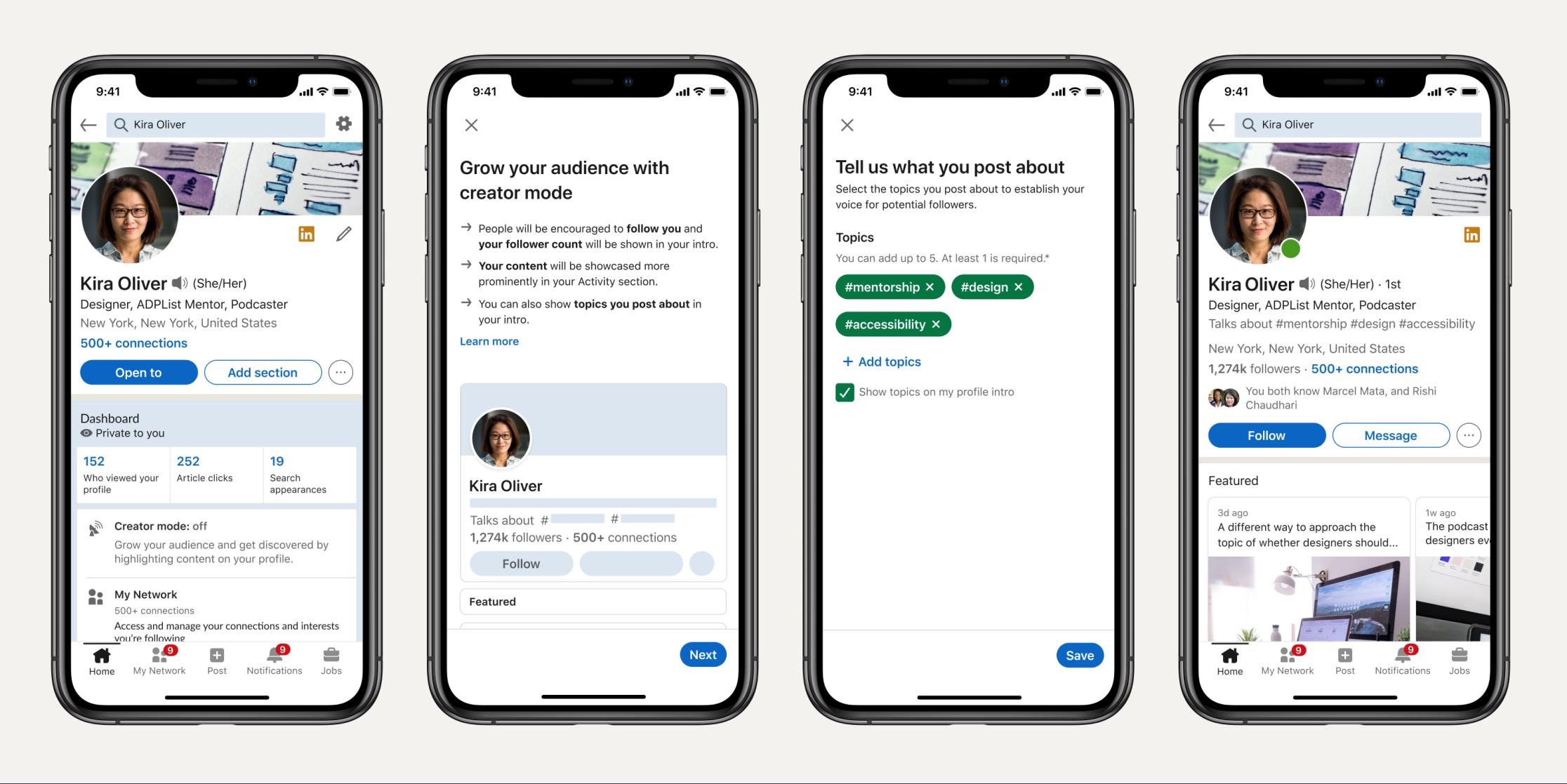 LinkedIn heeft de 'Creator Mode' gemaakt zodat je een community kunt opbouwen van je volgers