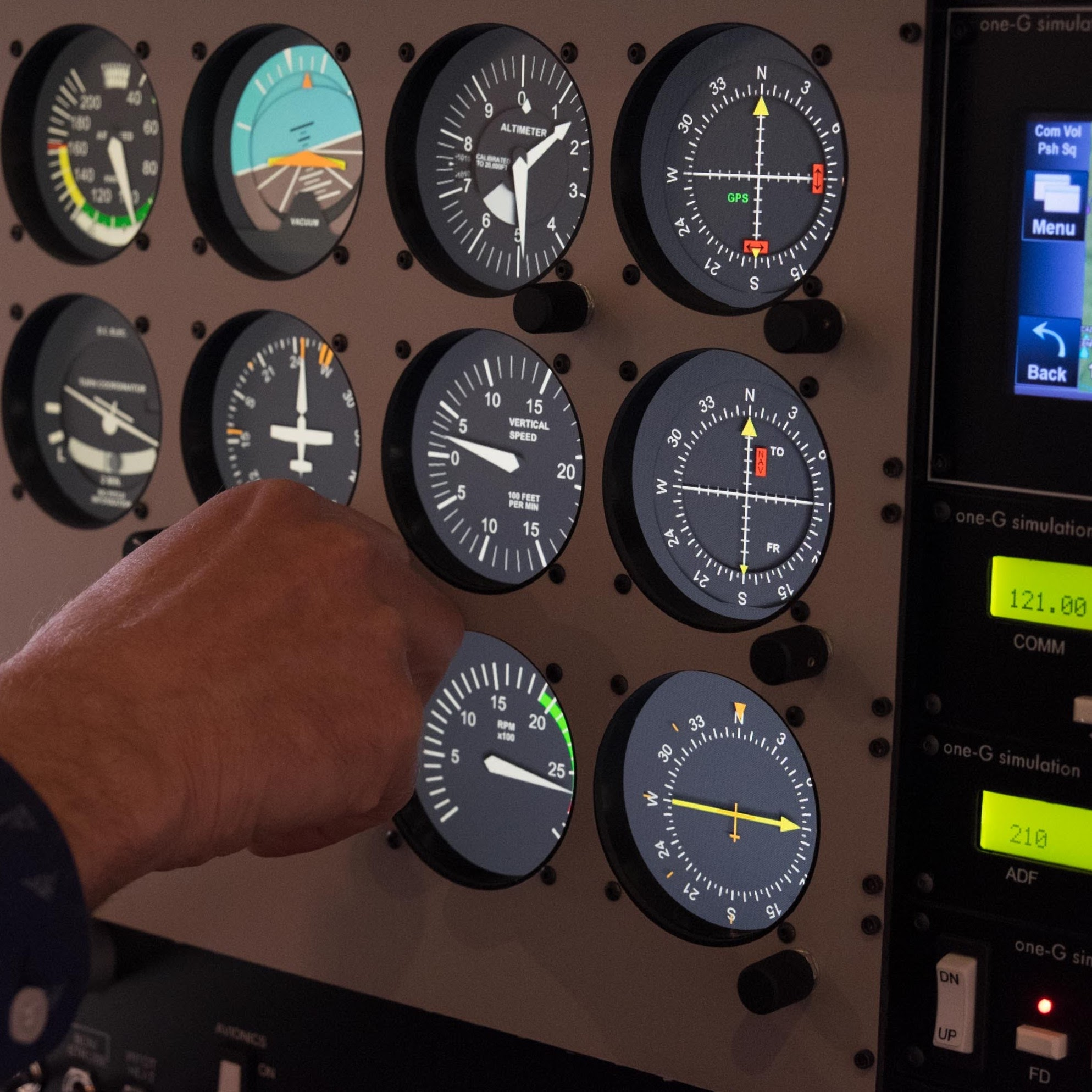 Interface System - Our patent-pending software interface system, advanced avionics emulation suite and the ease of mobility of the one-G Foundation™ are just a few of the things that make this AATD unique.Learn about our Software ➞