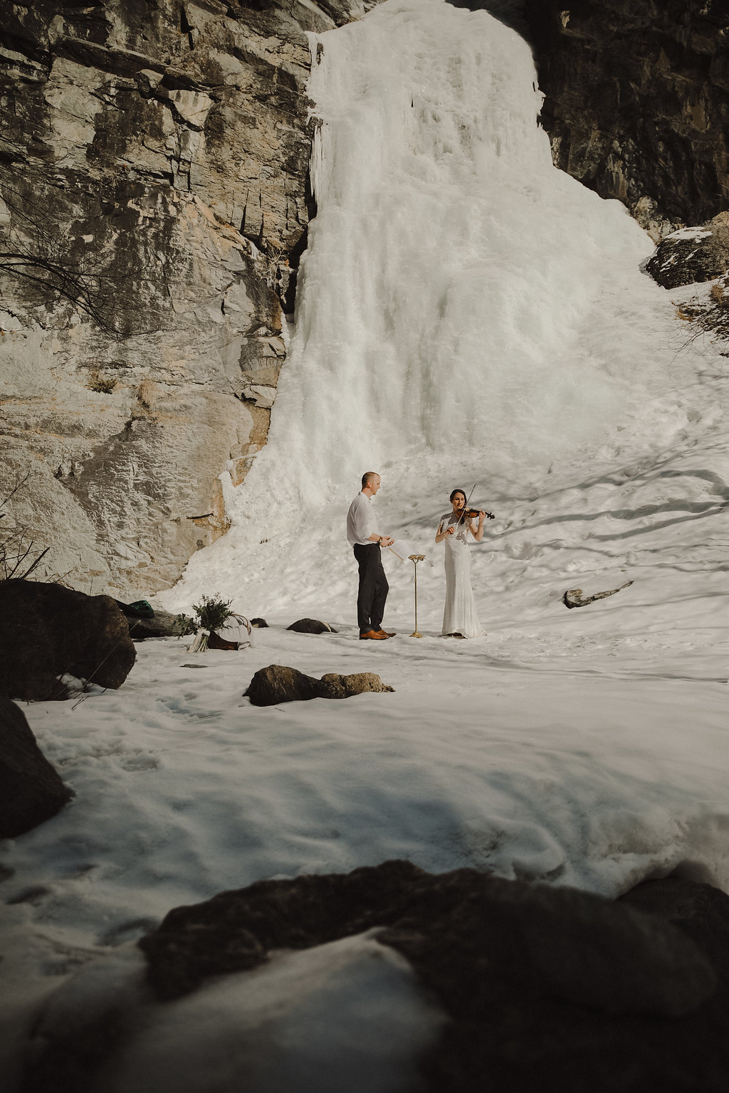 ice + song styled elopement