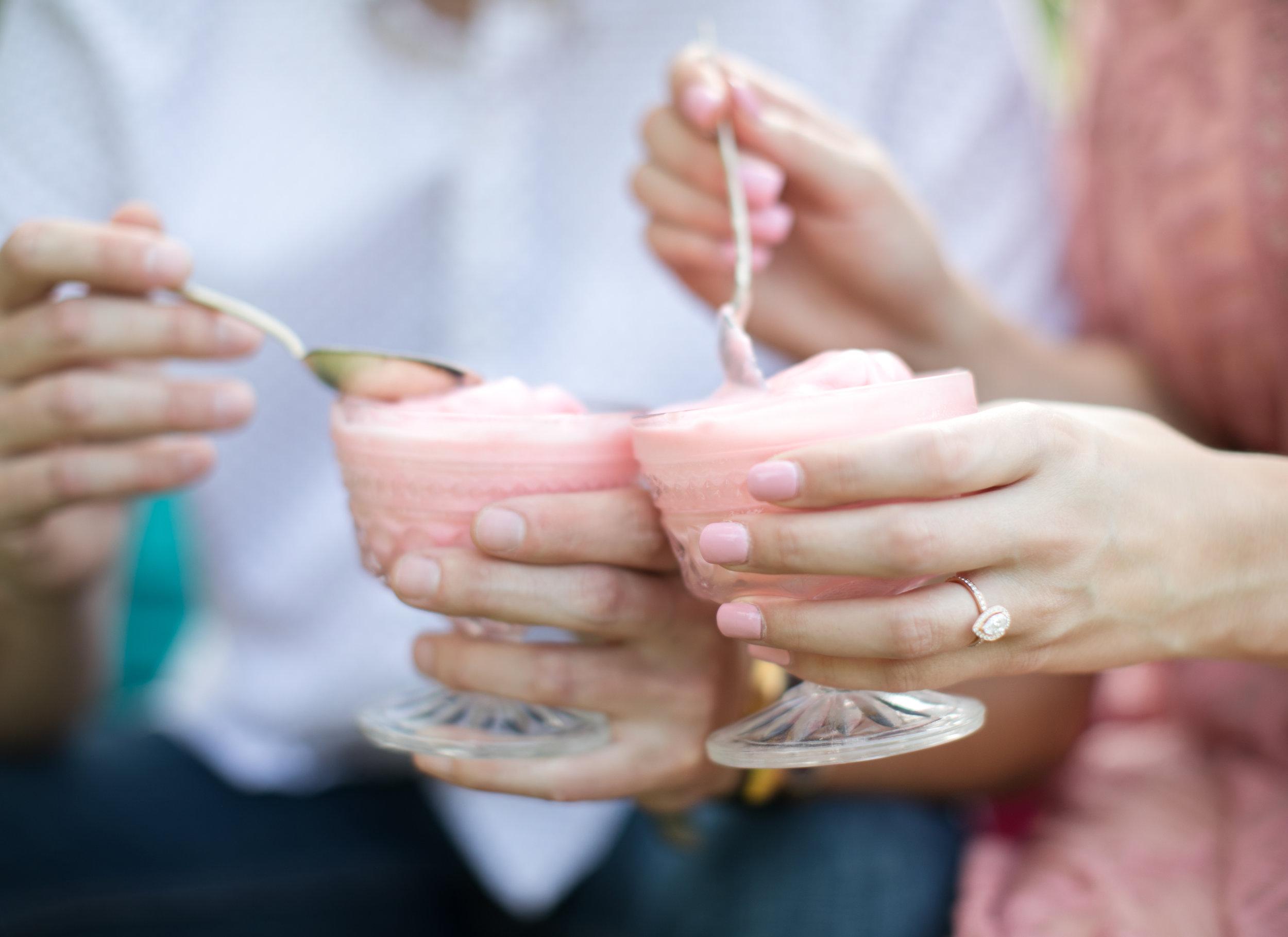 ice cream engagement photos