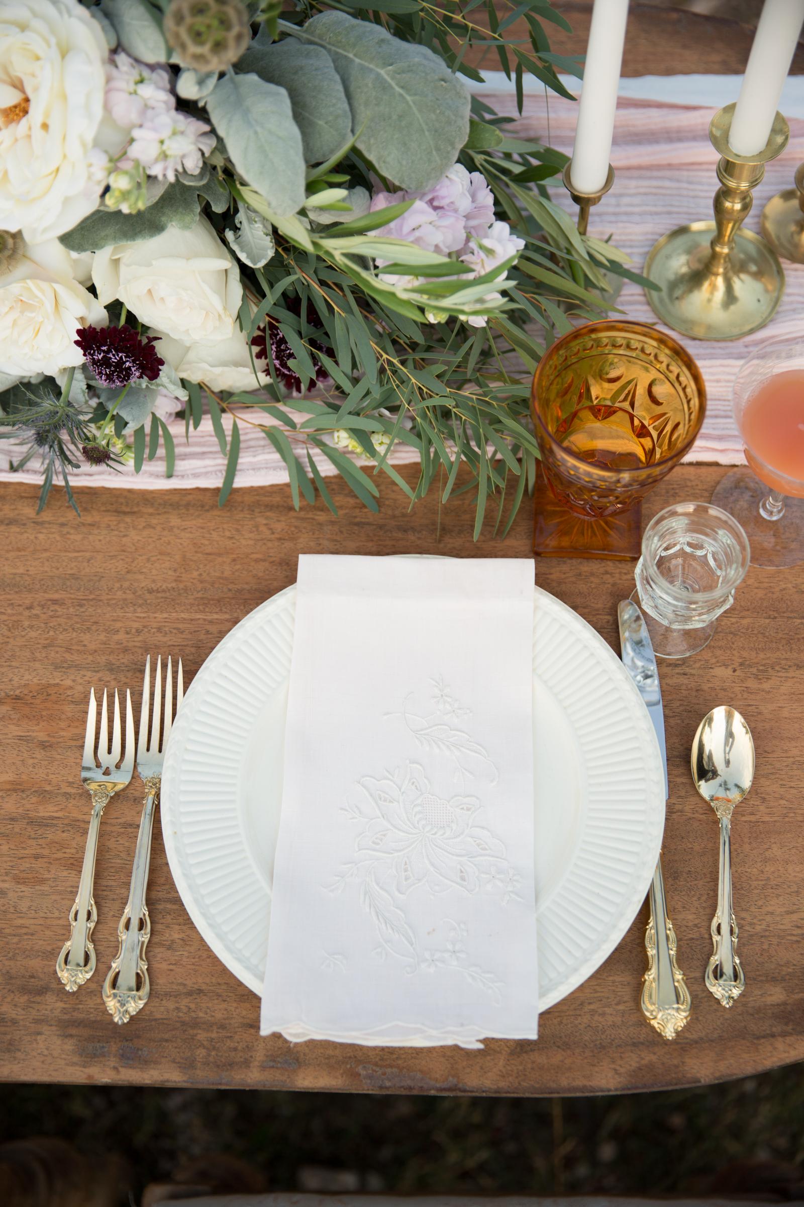 brunch wedding tablescape