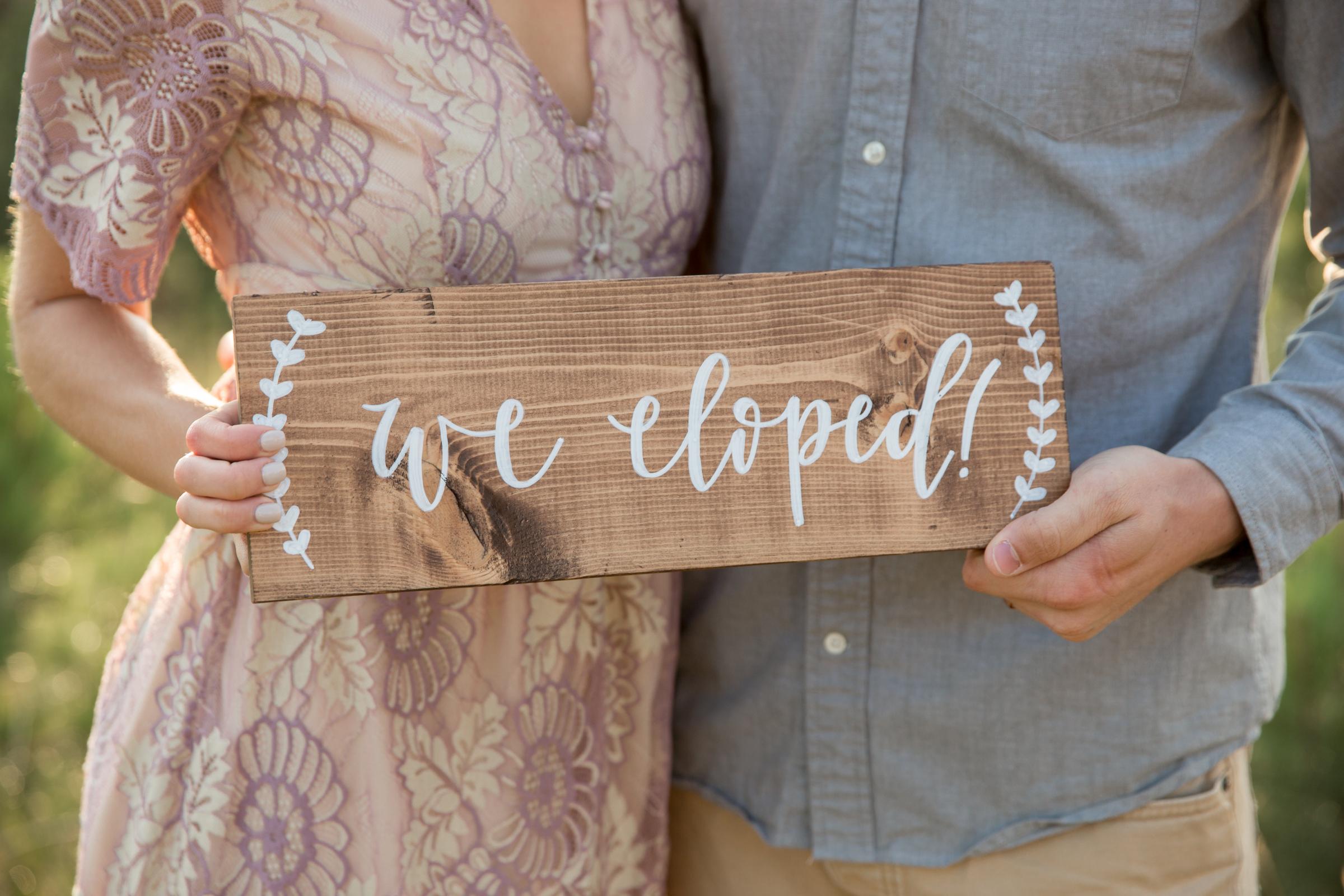 elopement announcement