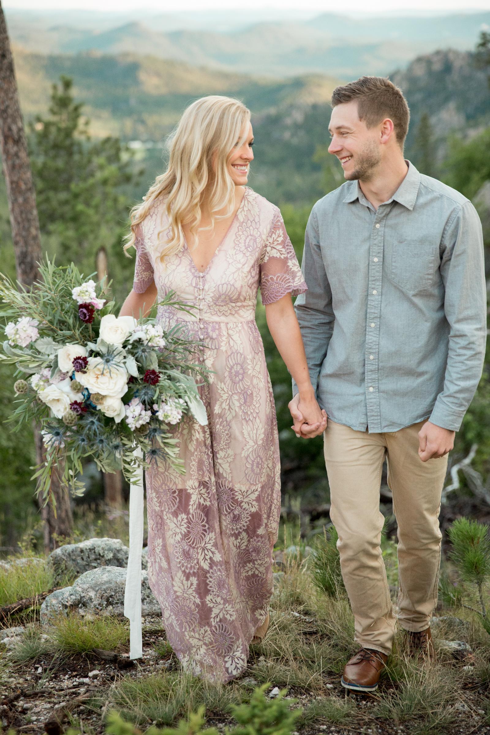 sunrise Black Hills clifftop elopement