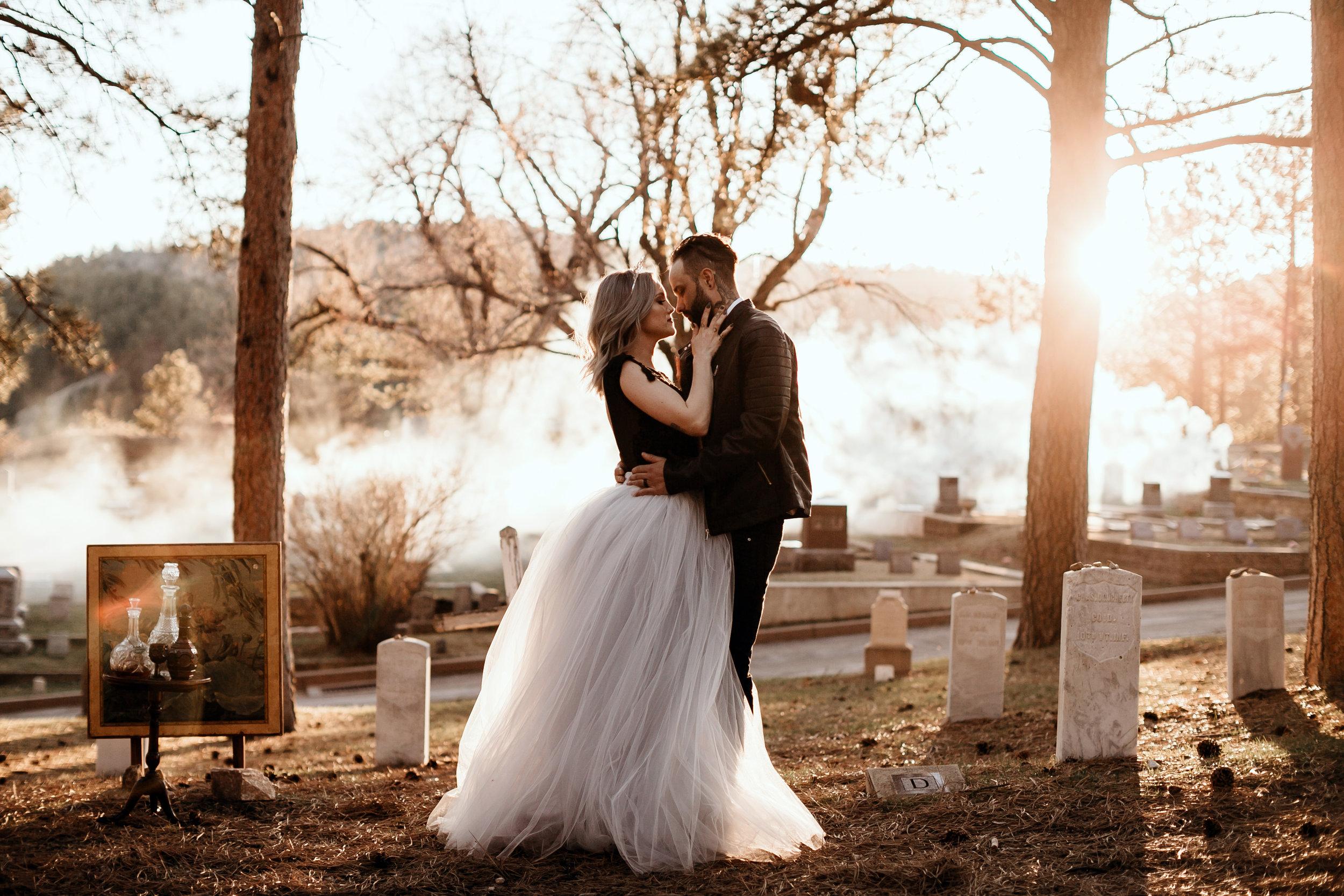haunted vintage elopement