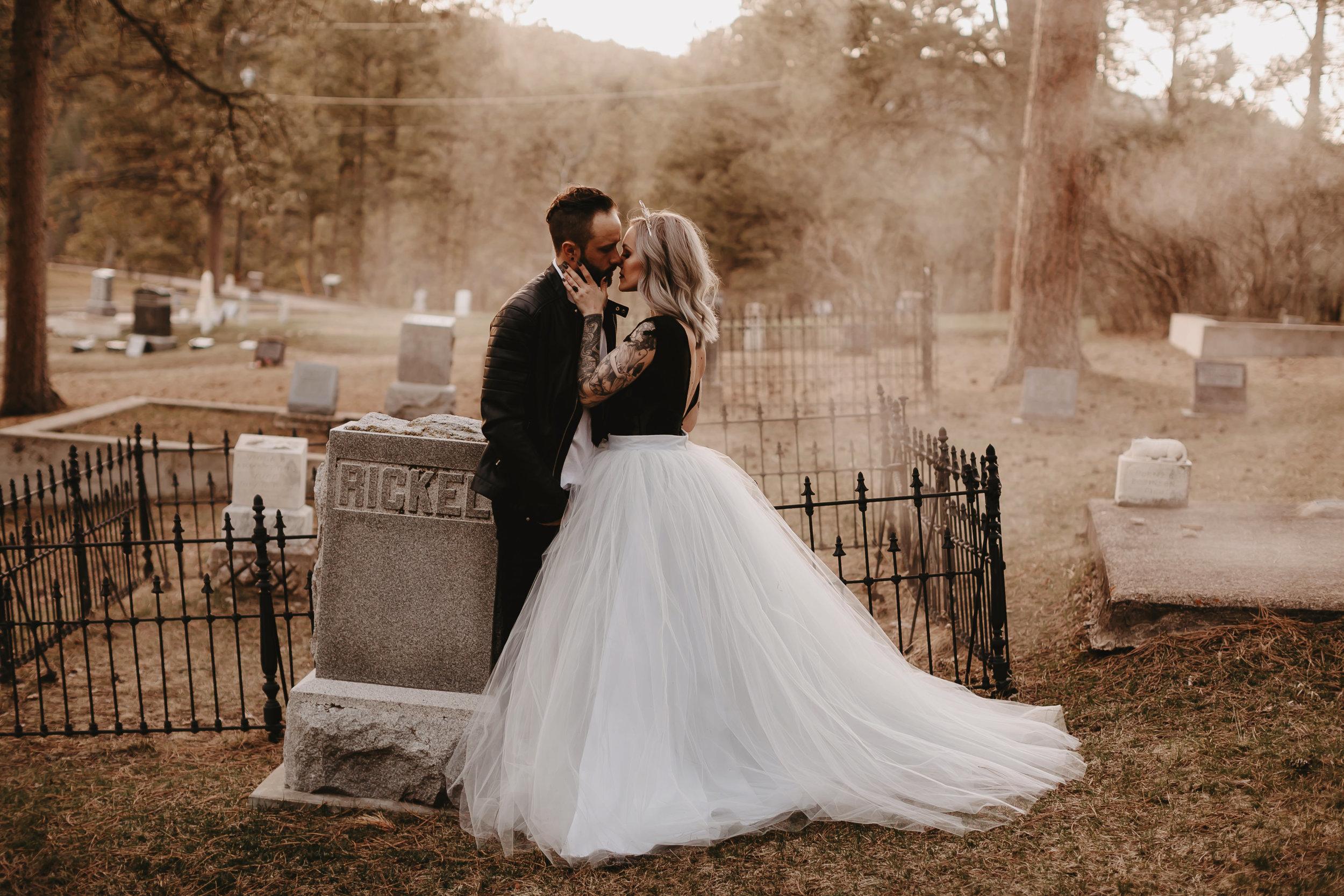 historic cemetery vintage elopement