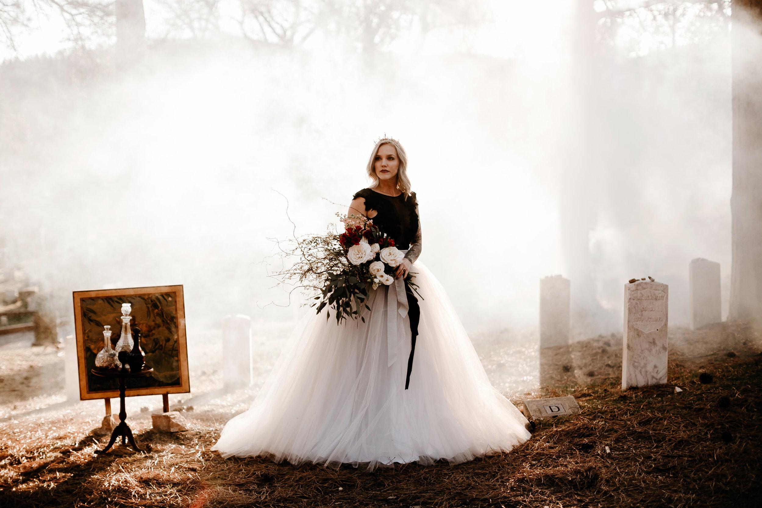 moody halloween bride