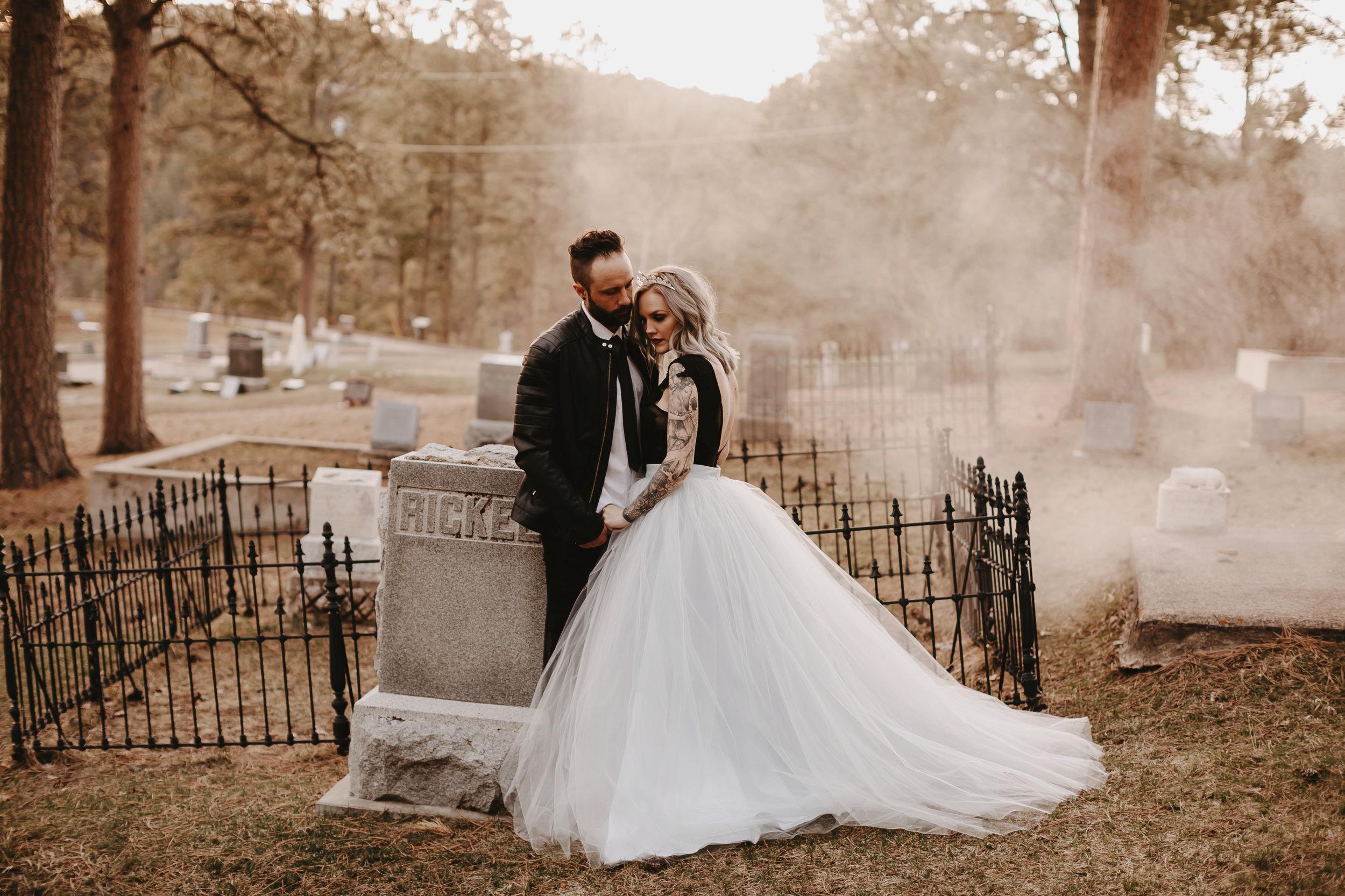moody halloween wedding