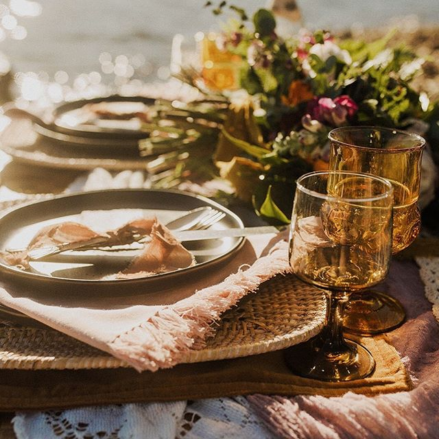 How about a close up of that lakeside table for two!? Delight 😍 . . . . Photo: @kristineelisabethphoto  Floral : @ksfloraldesign Styling : @thevintagelease Jewelry : @riddlesjewelry Invites : @laurophyll Dress: @bhldn Models : @virginiaalewis @alexlewisj . . . . . . #elope #elopement #elopementphotographer #elopementplanner #blackhillswedding #blackhillselopement #tablescape #weddingdesign #elopementinspiration #blackhills #southdakota #southdakotawedding #pactola
