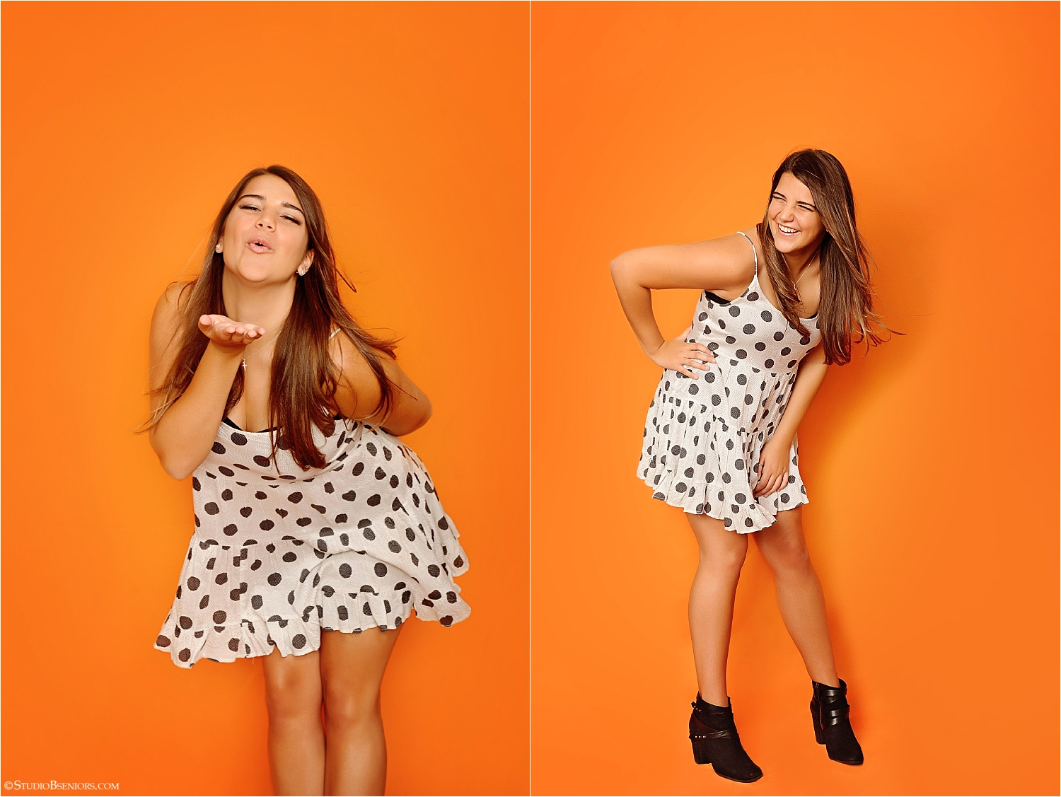 Senior Girl in Polka Dot Dress