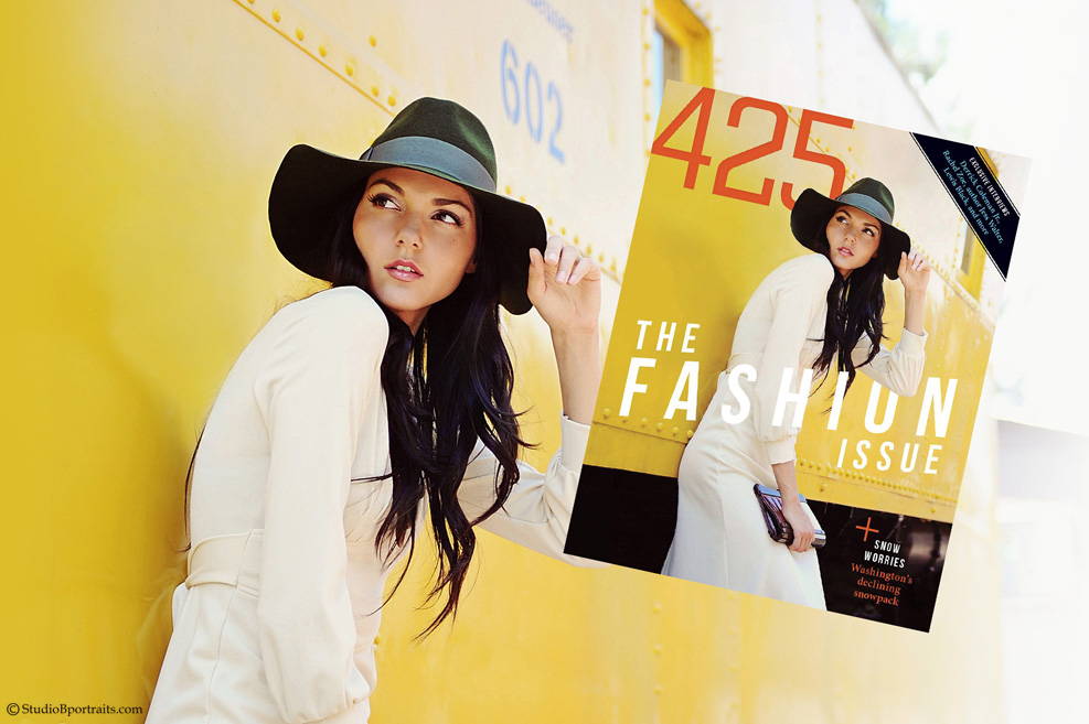425 Magazine Cover photographed by Brooke Clark at Studio B