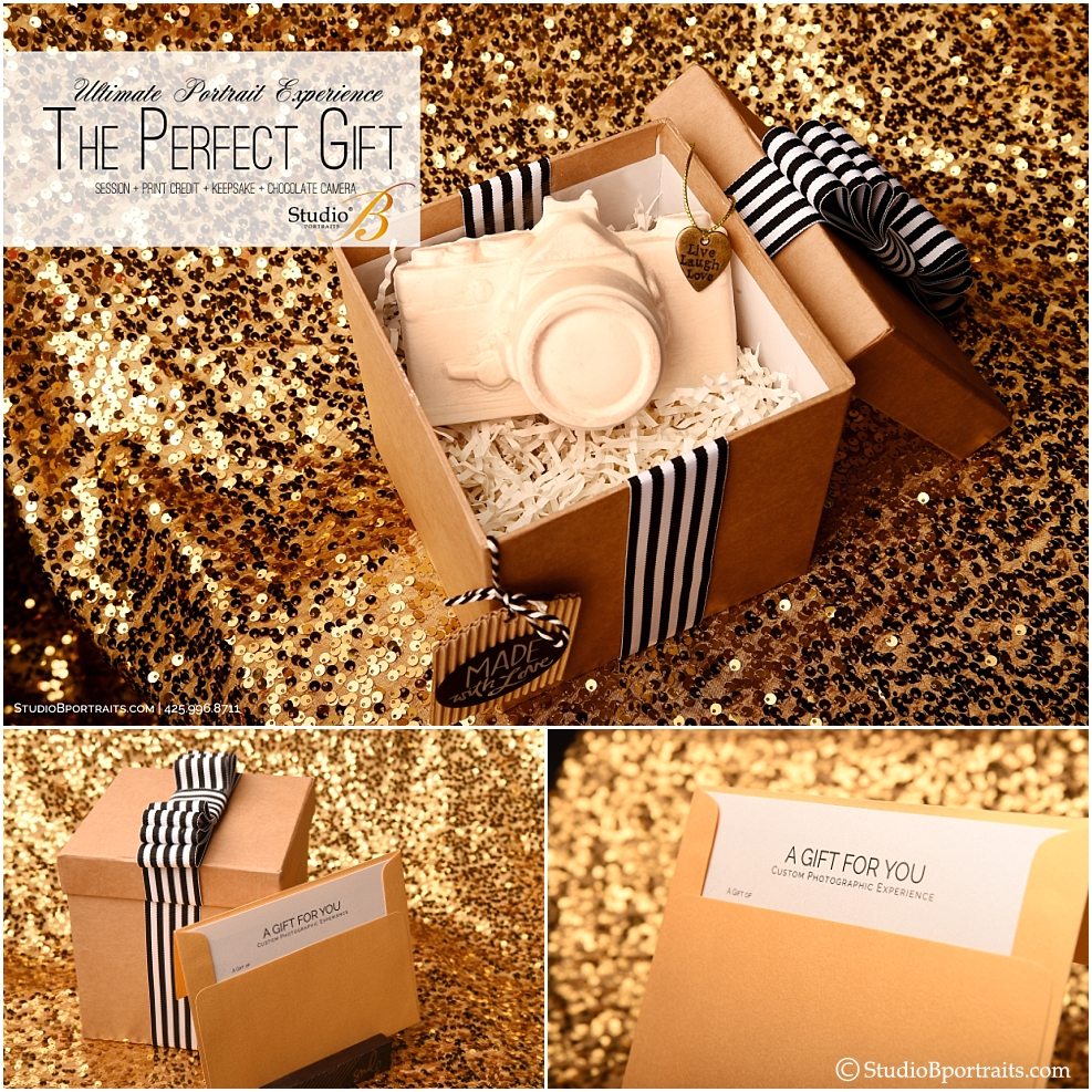 Photography portrait session gift box with Boehms chocolate camera at Studio B Portraits_0291.jpg