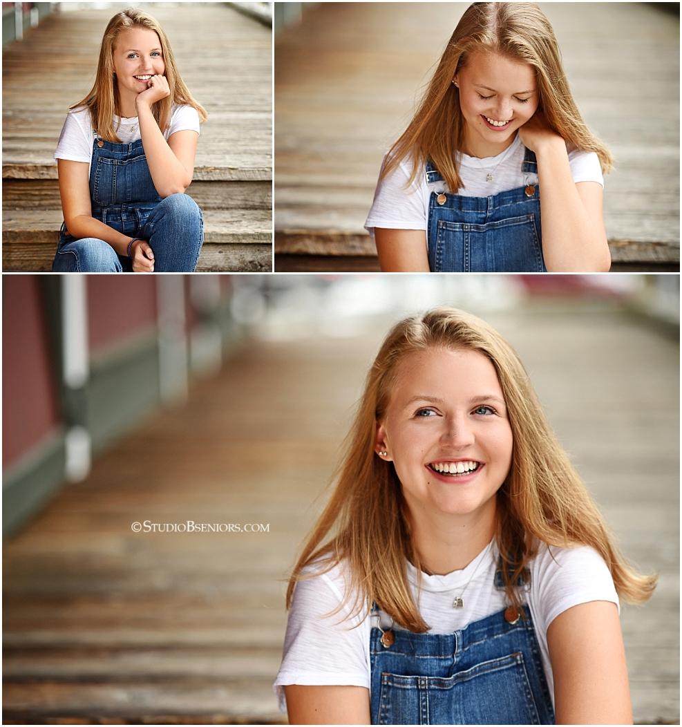 Bellevue High School Girl in overalls